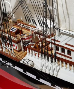 Belem painted 80 cm hull red39